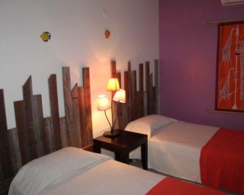 chambre deux lits villa deshaies