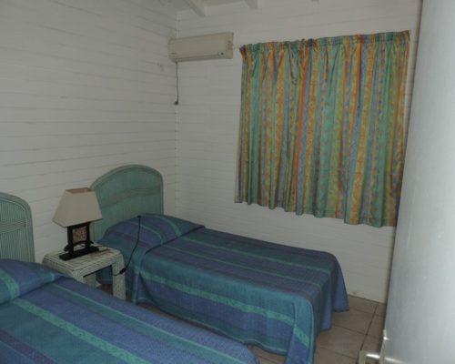 chambre deux lits bungalow saint-françois