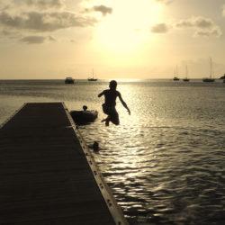 plongeon du ponton
