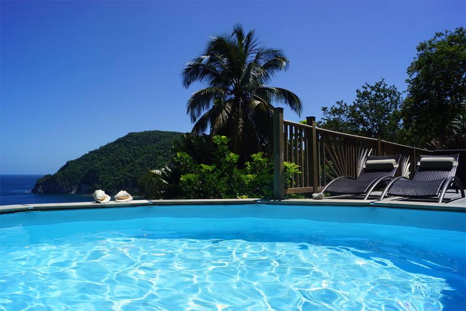 villa terrasse avec piscine vue mer