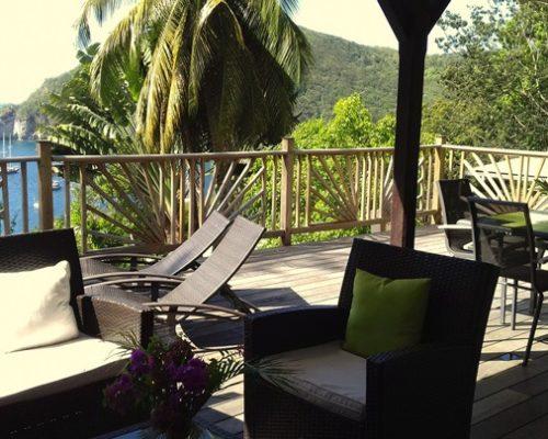 villa guadeloupe deshaies terrasse vue mer