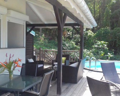 terrasse villa guadeloupe piscine