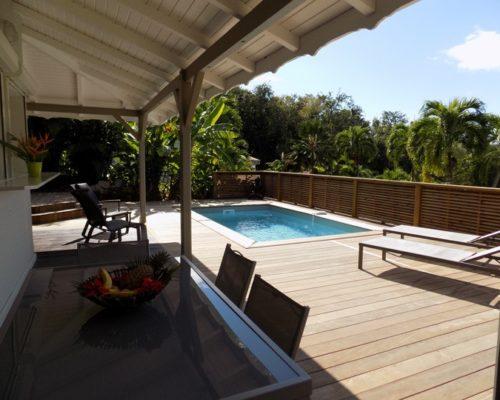 terrasse piscine villa deshaies