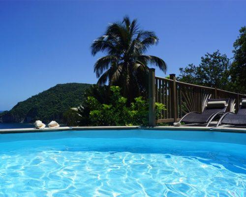 villa guadeloupe piscine vue mer